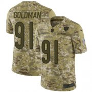 Wholesale Cheap Nike Bears #91 Eddie Goldman Camo Men's Stitched NFL Limited 2018 Salute To Service Jersey