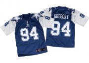 Wholesale Cheap Nike Cowboys #94 Randy Gregory Navy Blue/White Throwback Men's Stitched NFL Elite Jersey