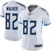Wholesale Cheap Nike Titans #82 Delanie Walker White Women's Stitched NFL Vapor Untouchable Limited Jersey