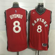 Wholesale Cheap Men's Toronto Raptors #8 Bismack Biyombo Red New NBA Rev 30 Swingman Jersey