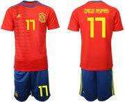 Wholesale Cheap Spain #17 Iago Aspas Home Soccer Country Jersey