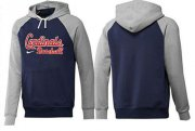 Wholesale Cheap St.Louis Cardinals Pullover Hoodie Blue & Grey