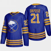 Cheap Buffalo Sabres #21 Kyle Okposo Men's Adidas 2020-21 Home Authentic Player Stitched NHL Jersey Royal Blue