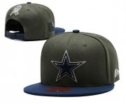 Wholesale Cheap Cowboys Team Logo Olive Adjustable Hat LT