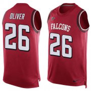 Wholesale Cheap Nike Falcons #26 Isaiah Oliver Red Team Color Men's Stitched NFL Limited Tank Top Jersey