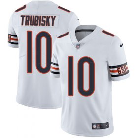 Wholesale Cheap Nike Bears #10 Mitchell Trubisky White Men\'s Stitched NFL Vapor Untouchable Limited Jersey