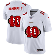 Wholesale Cheap San Francisco 49ers #10 Jimmy Garoppolo White Men's Nike Team Logo Dual Overlap Limited NFL Jersey