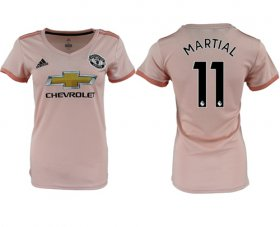 Wholesale Cheap Women\'s Manchester United #11 Martial Away Soccer Club Jersey