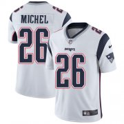 Wholesale Cheap Nike Patriots #26 Sony Michel White Men's Stitched NFL Vapor Untouchable Limited Jersey