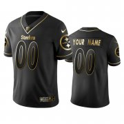 Wholesale Cheap Nike Steelers Custom Black Golden Limited Edition Stitched NFL Jersey