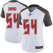 Wholesale Cheap Nike Buccaneers #54 Lavonte David White Women's Stitched NFL Vapor Untouchable Limited Jersey