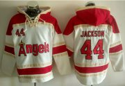 Wholesale Cheap Angels of Anaheim #44 Reggie Jackson White Sawyer Hooded Sweatshirt MLB Hoodie