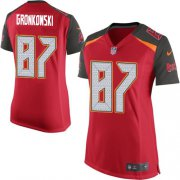 Wholesale Cheap Nike Buccaneers #87 Rob Gronkowski Red Team Color Women's Stitched NFL New Elite Jersey