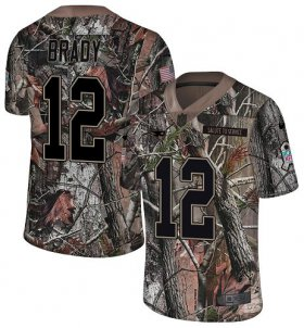Wholesale Cheap Nike Patriots #12 Tom Brady Camo Men\'s Stitched NFL Limited Rush Realtree Jersey