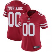 Wholesale Cheap Nike San Francisco 49ers Customized Red Stitched Vapor Untouchable Limited Women's NFL Jersey