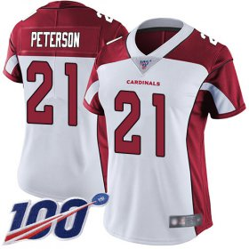 Wholesale Cheap Nike Cardinals #21 Patrick Peterson White Women\'s Stitched NFL 100th Season Vapor Limited Jersey