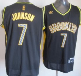 Wholesale Cheap Brooklyn Nets #7 Joe Johnson Black Electricity Fashion Jersey