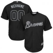 Wholesale Cheap Atlanta Braves Majestic 2019 Players' Weekend Cool Base Roster Custom Jersey Black