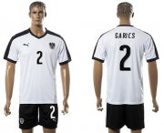 Wholesale Cheap Austria #2 Garics White Away Soccer Country Jersey