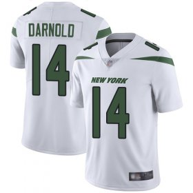 Wholesale Cheap Nike Jets #14 Sam Darnold White Youth Stitched NFL Vapor Untouchable Limited Jersey