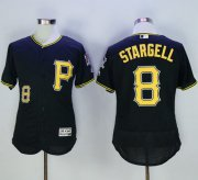 Wholesale Pirates #8 Willie Stargell Black Flexbase Authentic Collection Stitched Baseball Jersey