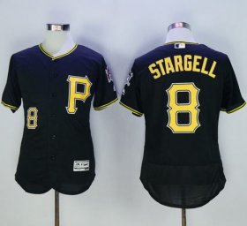 Wholesale Cheap Pirates #8 Willie Stargell Black Flexbase Authentic Collection Stitched MLB Jersey