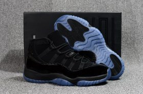 Wholesale Cheap Air Jordan 11 Retro Cap And Gown Black/Blue