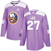 Wholesale Cheap Adidas Islanders #27 Anders Lee Purple Authentic Fights Cancer Stitched NHL Jersey