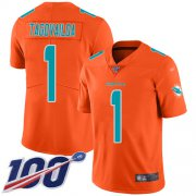 Wholesale Cheap Nike Dolphins #1 Tua Tagovailoa Orange Men's Stitched NFL Limited Inverted Legend 100th Season Jersey