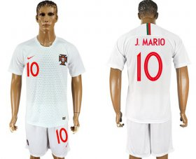 Wholesale Cheap Portugal #10 J.Mario Away Soccer Country Jersey