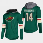 Wholesale Cheap Wild #14 Joel Eriksson Green 2018 Pullover Platinum Hoodie
