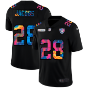 Cheap Las Vegas Raiders #28 Josh Jacobs Men's Nike Multi-Color Black 2020 NFL Crucial Catch Vapor Untouchable Limited Jersey