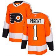 Wholesale Cheap Adidas Flyers #1 Bernie Parent Orange Home Authentic Stitched Youth NHL Jersey