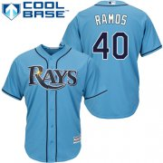 Wholesale Cheap Rays #40 Wilson Ramos Light Blue Cool Base Stitched Youth MLB Jersey
