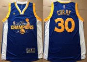 Wholesale Cheap Men's Golden State Warriors #30 Stephen Curry Royal Blue 2017 The Finals Championship Stitched NBA adidas Swingman Jersey