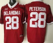 Wholesale Cheap Men's Oklahoma Sooners #28 Adrian Peterson Red 2016 College Football Nike Jersey