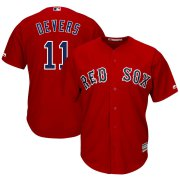 Wholesale Cheap Boston Red Sox #11 Rafael Devers Majestic Alternate Official Cool Base Player Jersey Scarlet