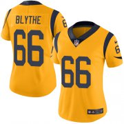 Wholesale Cheap Nike Rams #66 Austin Blythe Gold Women's Stitched NFL Limited Rush Jersey