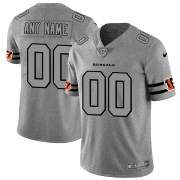 Wholesale Cheap Cincinnati Bengals Custom Men's Nike Gray Gridiron II Vapor Untouchable Limited NFL Jersey