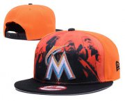 Wholesale Cheap Miami Marlins Snapback Ajustable Cap Hat GS 6