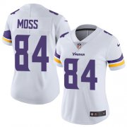 Wholesale Cheap Nike Vikings #84 Randy Moss White Women's Stitched NFL Vapor Untouchable Limited Jersey