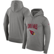 Wholesale Cheap Arizona Cardinals Nike Sideline Property of Performance Pullover Hoodie Gray
