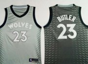 Wholesale Cheap Nike Minnesota Timberwolves #23 Jimmy Butler Gray NBA Swingman City Edition Jersey