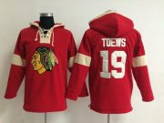 Wholesale Cheap Chicago Blackhawks #19 Jonathan Toews Red Pullover NHL Hoodie