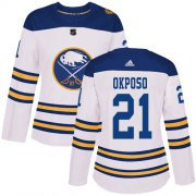 Wholesale Cheap Adidas Sabres #21 Kyle Okposo White Authentic 2018 Winter Classic Women's Stitched NHL Jersey