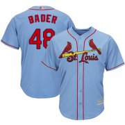 Wholesale Cheap Cardinals #48 Harrison Bader Light Blue Cool Base Stitched Youth MLB Jersey