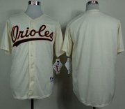 Wholesale Orioles Blank Cream 1954 Turn Back The Clock Stitched Baseball Jersey