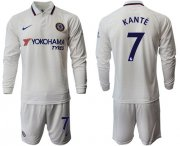 Wholesale Cheap Chelsea #7 Kante Away Long Sleeves Soccer Club Jersey