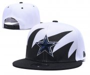 Wholesale Cheap Cowboys Team Logo Black White Adjustable Hat