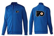 Wholesale Cheap NHL Philadelphia Flyers Zip Jackets Blue-2